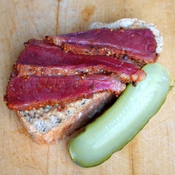 Pastrami Mustard on Rye from Scratch