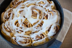 Pumpkin Cinnamon Rolls with Cream Cheese Icing Recipe