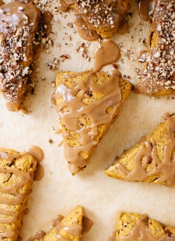 Pumpkin Pecan Scones with Maple Glaze Recipe