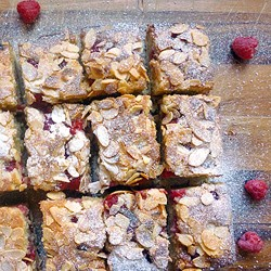 Raspberry Almond Squares Recipe