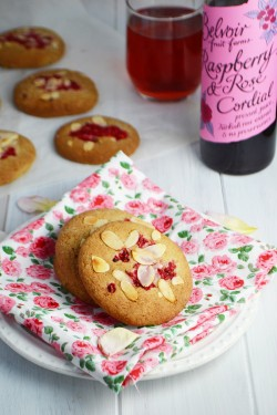 Raspberry Rose Cookies Recipe