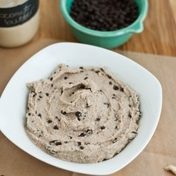 Raw Chocolate Chip Cookies Dough Dip Recipe