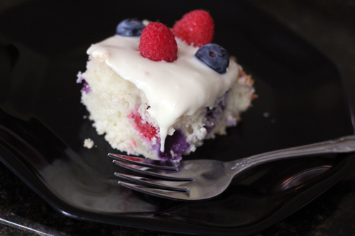 Red White Blueberry Yogurt Cake Recipe