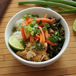 Rice Bowl with Tahini Chicken Recipe