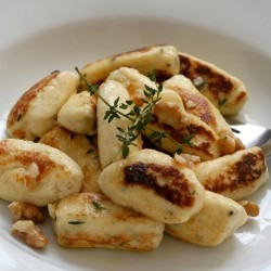 Ricotta Gnocchi with Brown Butter Walnuts and Thyme