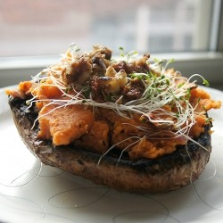 Roasted Portobello Mushrooms with Sweet Potato and Walnuts Recipe