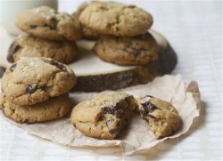Salty Dark Chocolate Chunk Whole Wheat Cookies