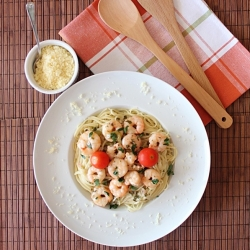Shrimp in Lemon Sauce with Pasta Recipe