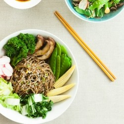 Soba Noodles Vegetables Bowl Recipe