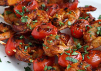 Spicy Shrimp Tomato Kebabs Recipe