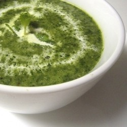 Spinach Corn Soup with Mint