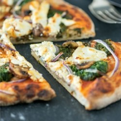 Spinach Mushroom Goat Cheese Pizza Recipe