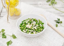 Spring Peas Shallots Tofu Salad with Lemon Vinaigrette