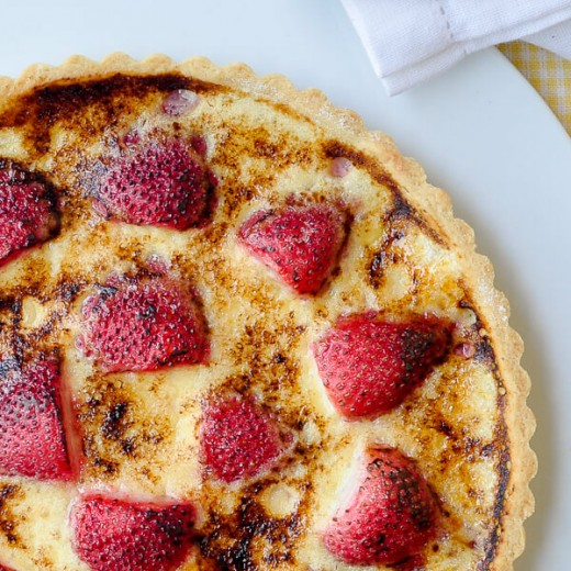 Strawberry Stone Fruit Creme Brulee Tart Recipe