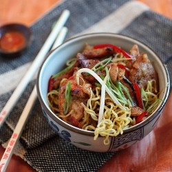 Sweet Sour Pork Noodles