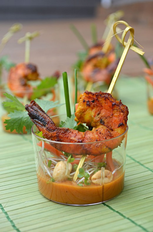 Thai Shrimp Skewer Shooters