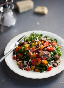 Warm Balsamic Kale Salad Recipe