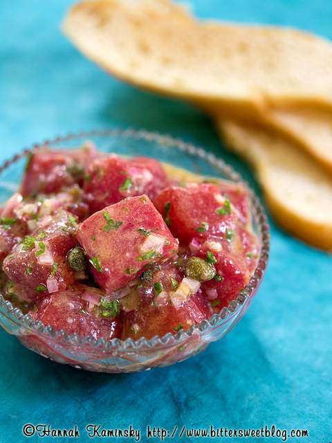 Watermelon Poke Tartare Recipe