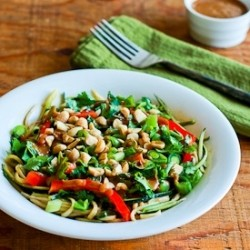 Zucchini Bowl with Peanut Sriracha Sauce Recipe