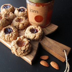 Almond Thumbprint Cookies with Barley Flour