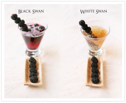 Black Swan Cocktail with Chambord