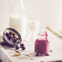 Blackberry Honey Yogurt Almond Milk Smoothie