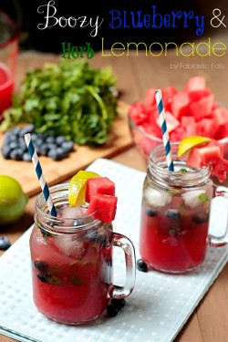 Blueberry Herb Lemonade Recipe