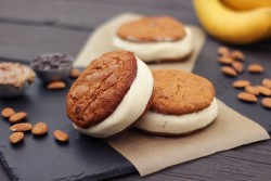 Chocolate Chip Cookie Banana Ice Cream Sandwiches Recipe