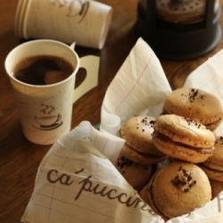 Coffee Macarons Recipe with Nutella Recipe