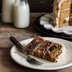 Cookie Dough Cake with Brown Sugar Frosting Recipe