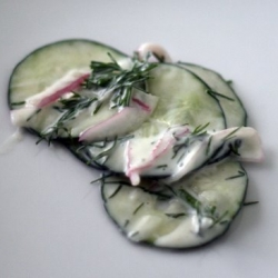 Cucumber Salad with Dill and Red Onion