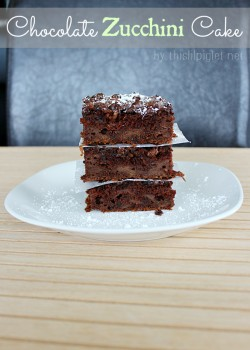 Double Chocolate Zucchini Cake Recipe