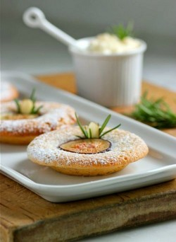 Financiers with Figs and Honeyed Ricotta Recipe