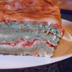 Fresh Spinach Pasta Lasagna with Bechamel