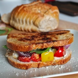 Grilled Mediterranean Chorizo Vegetables Sandwich Recipe