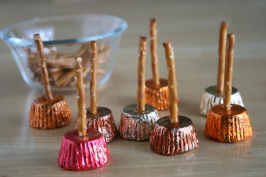Halloween Candy Witch Brooms