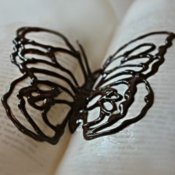 How to Make Curved Chocolate Butterfly
