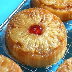 Individual Fresh Pineapple Upside Down Cakes