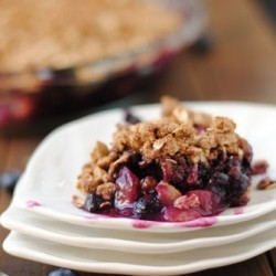 Maple Blueberry Apple Crisp Recipe