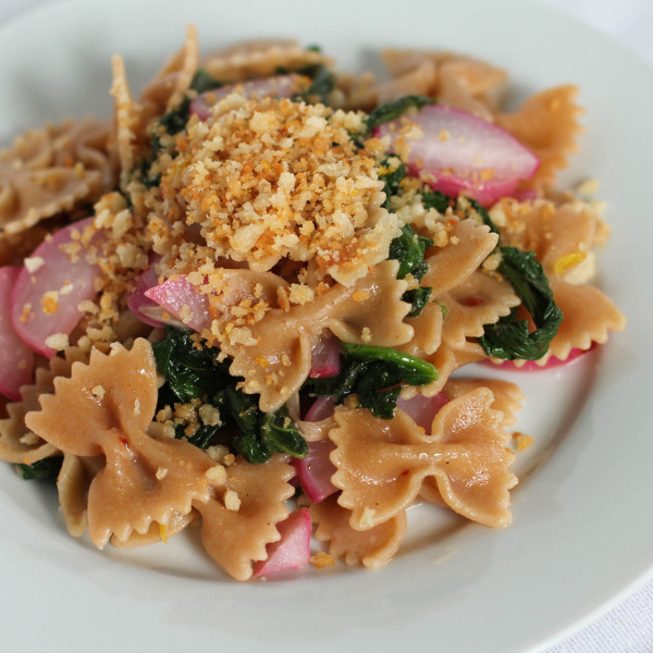 Pasta with Radishes and Lemony Breadcrumbs