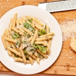 Penne with Parmesan and Pepper