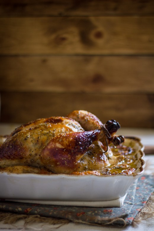 Roasted Apricot Glazed Rosemary Chicken Recipe