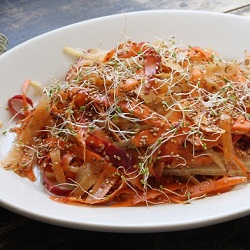 Shaved Carrot Salad with Ginger Maple and Sesame Recipe