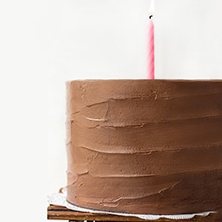Six-Layer Dark Chocolate Cake with Chocolate Swiss Meringue Buttercream