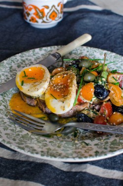Soft Eggs with Mediterranean Salsa Recipe