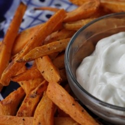 Sweet Potato Fries with Pepper Lime Mayo Recipe