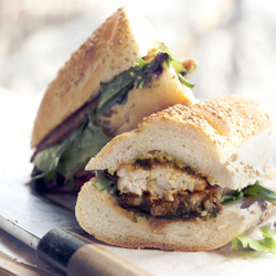 Tilapia Sandwich and Recipe from Italian Cassoulet from Brancaccios Brooklyn
