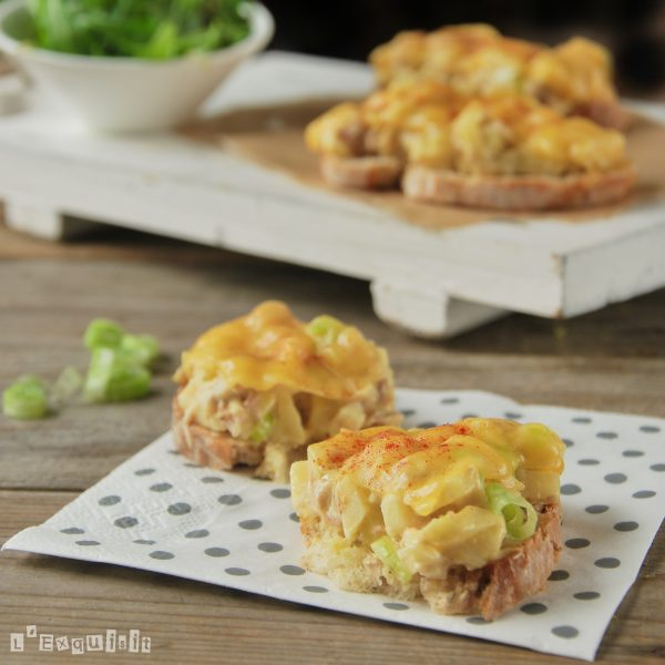 Tuna Apple and Cheese Toast Recipe