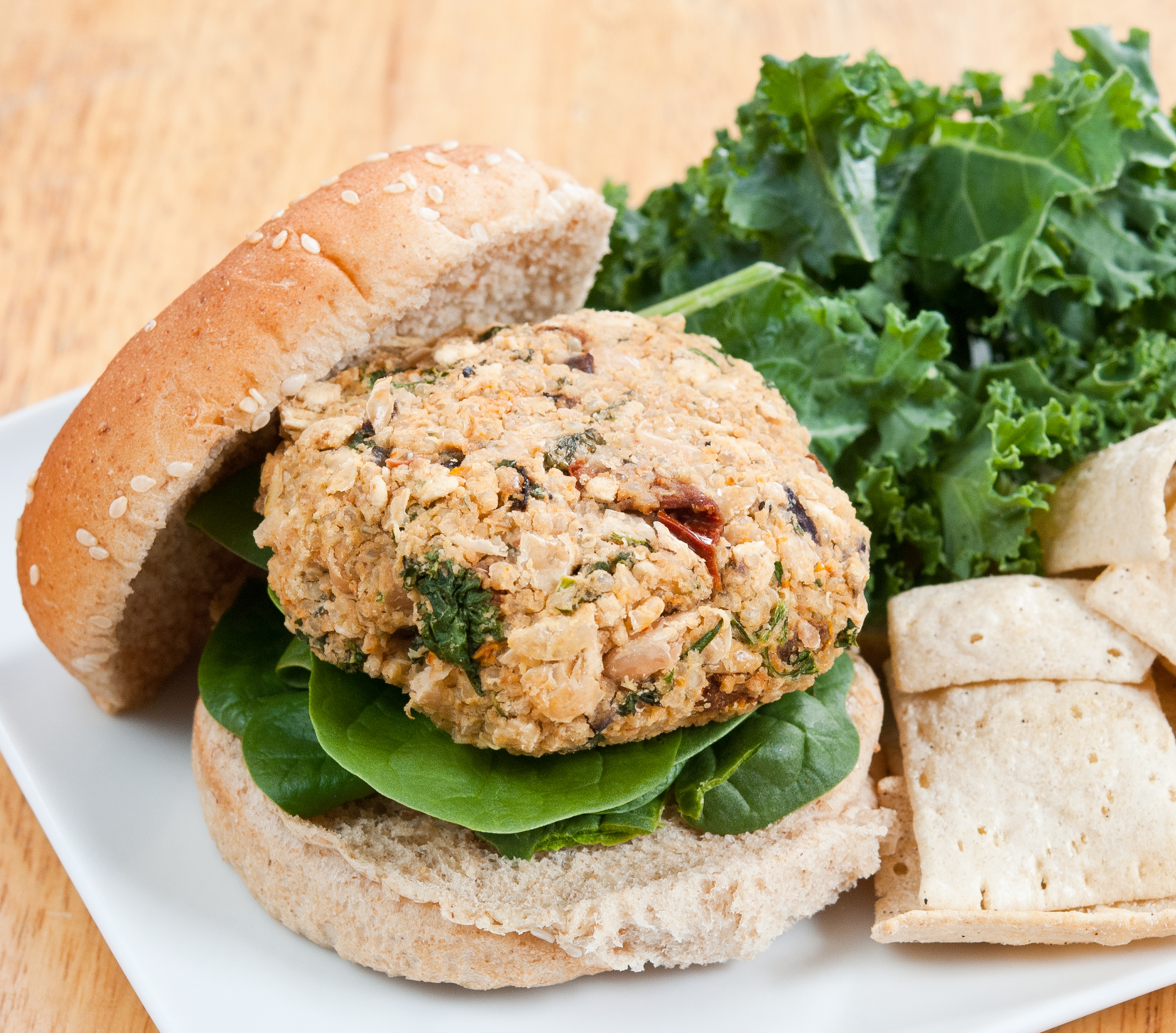 White Bean Kale Quinoa Burgers Recipe