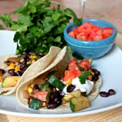 Zucchini Black Bean Taco Recipe
